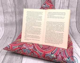 special reading pillow, tablet cushion, bookend, gift idea for Christmas, back friendly