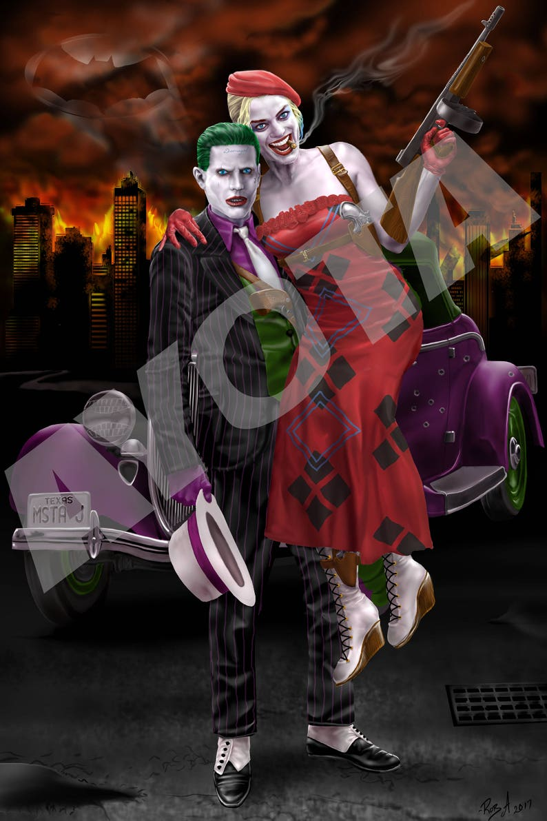 6b377844db33 Joker and Harley Quinn Poster as Bonnie and Clyde Suicide