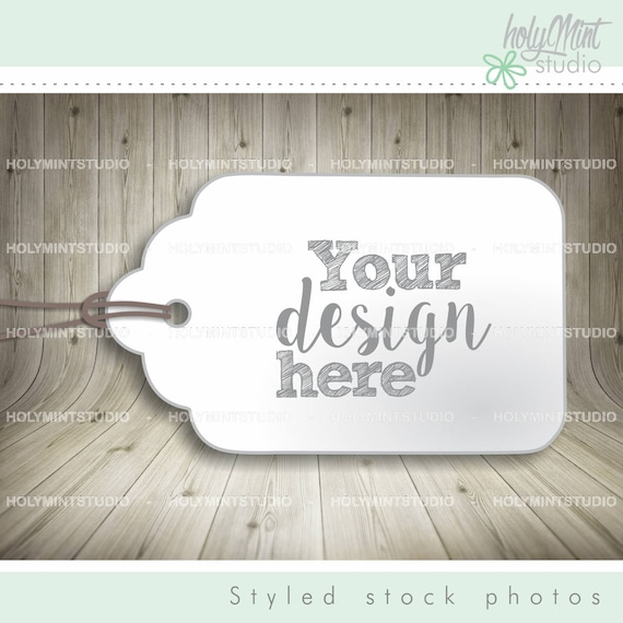 Gift Tags Mockup Thank You Card Styled Stock Photo