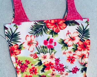 Market Bag - Tropical Flowers