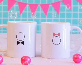 His and Hers Matching Mugs, Newlyweds, Minimalists, Matching Mugs, Wedding gifts, Wedding
