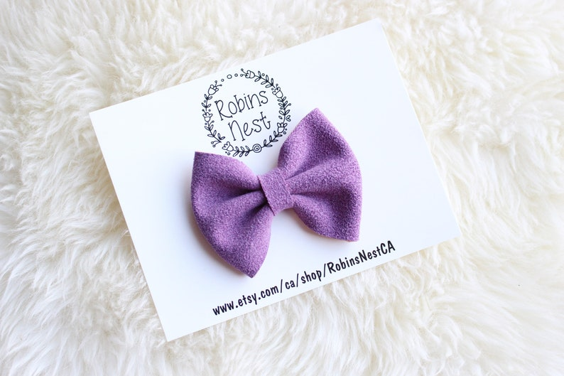 Purple DARLA Bow