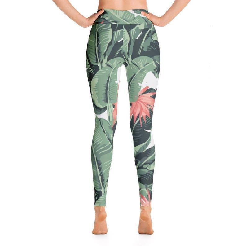 8a6f33c8a095b Tropical Activewear Yoga Pants Tropical Print Arc Yoga | Etsy