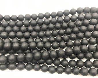 2stradns  16 Crab Natural black Jet  Glass Faceted   round Ball Beads jewelry supply,black jewelry beads 6mm