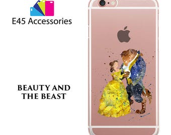 Beauty and The Beast Disney Watercolour Hard Case for iPhone 5S 5 SE, iPhone 6S 6 or iPhone 7