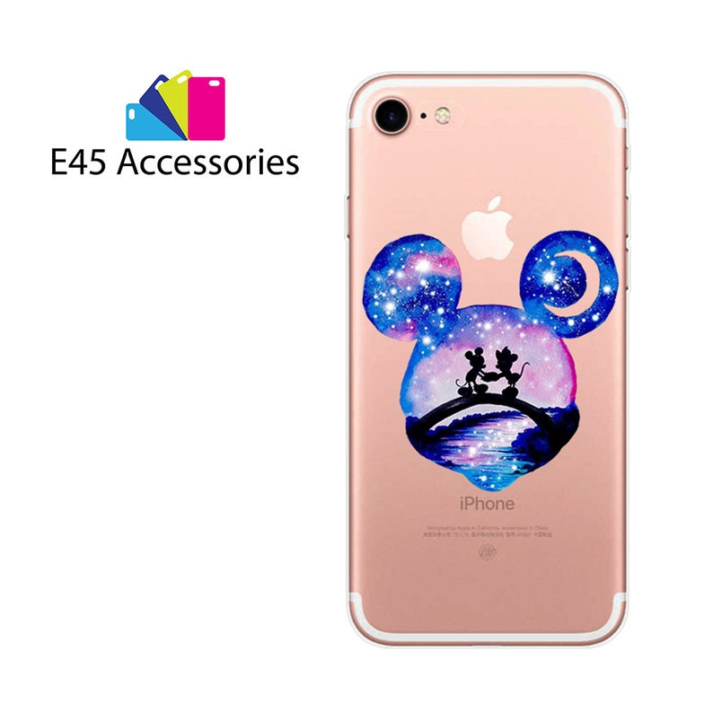 big sale 31a1a f1b63 MICKEY And MINNIE Mouse Watercolour Double Expression Disney Princess Hard  Case for iPhone 5S 5 SE, iPhone 6S 6 or iPhone 7 8