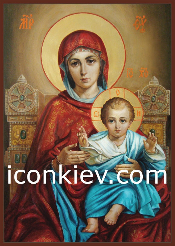 Our Lady The Blessed Virgin Mary Holding The Baby Jesus Etsy