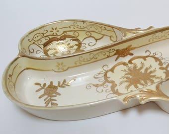 VIntage Japanese 3-Section Porcelain Serving Dish