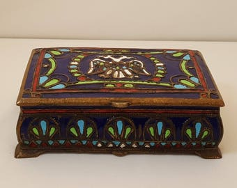 Antique Cloisonne Box Made in Greece