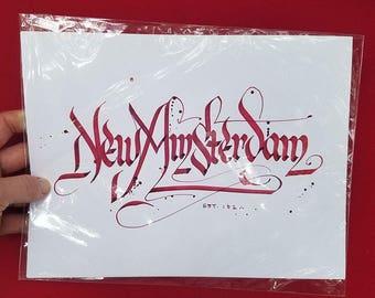 New Amsterdam (NYC) Calligraphy