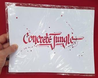 Concrete Jungle Calligraphy