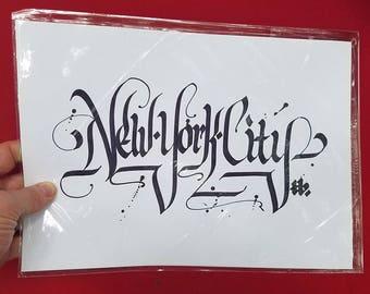 New York City Calligraphy