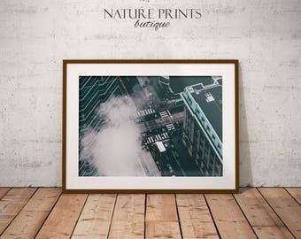 Travel print-City street print, london print, urban print, instant download, fine art print, london street print, street scene, aerial print