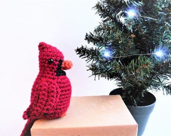 PATTERN: Crochet Red Cardinal Pattern, Amigurumi, Patterns, Bird, Birds, Crochets, Handmade, Christmas, Winter, Decor, Animal, Decoration