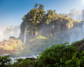 Iguazu Falls Photography, Art, Large Wall Art, Wall Decor, Waterfall Art, Water Art, Travel Photography