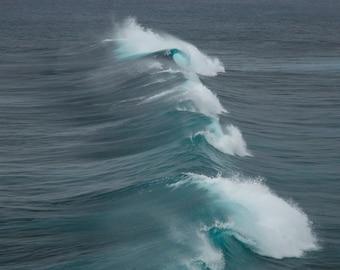 Ocean Wave Photo, Ocean Wave Wall Decor, Landscape Photography, Contemporary Art, Photos on Wood