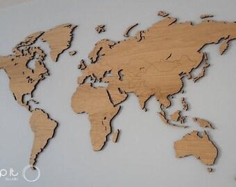 Mapa Mundi Etsy