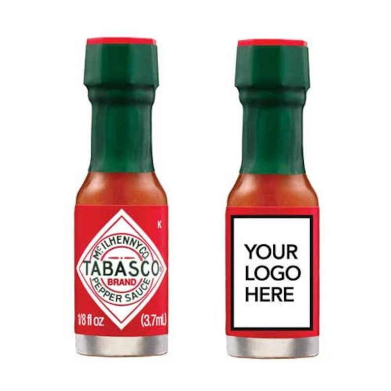 TABASCO® Pepper Sauce Case of 144 Personalized Miniatures image 0