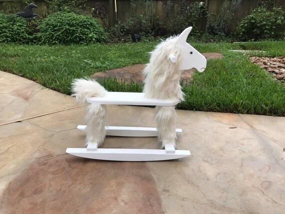 Rocking Llama Rocking Horse Wooden Toy Ride On Toy Etsy