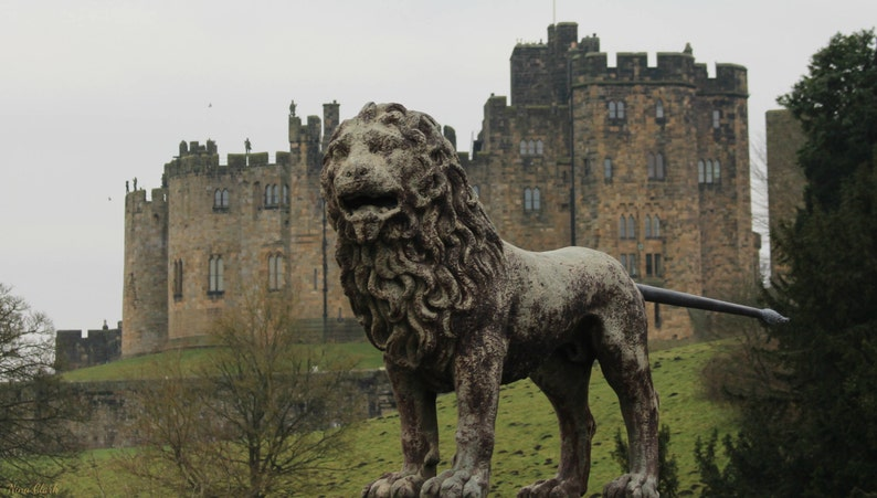 The Lion Bridge in front of Alnwick Castle