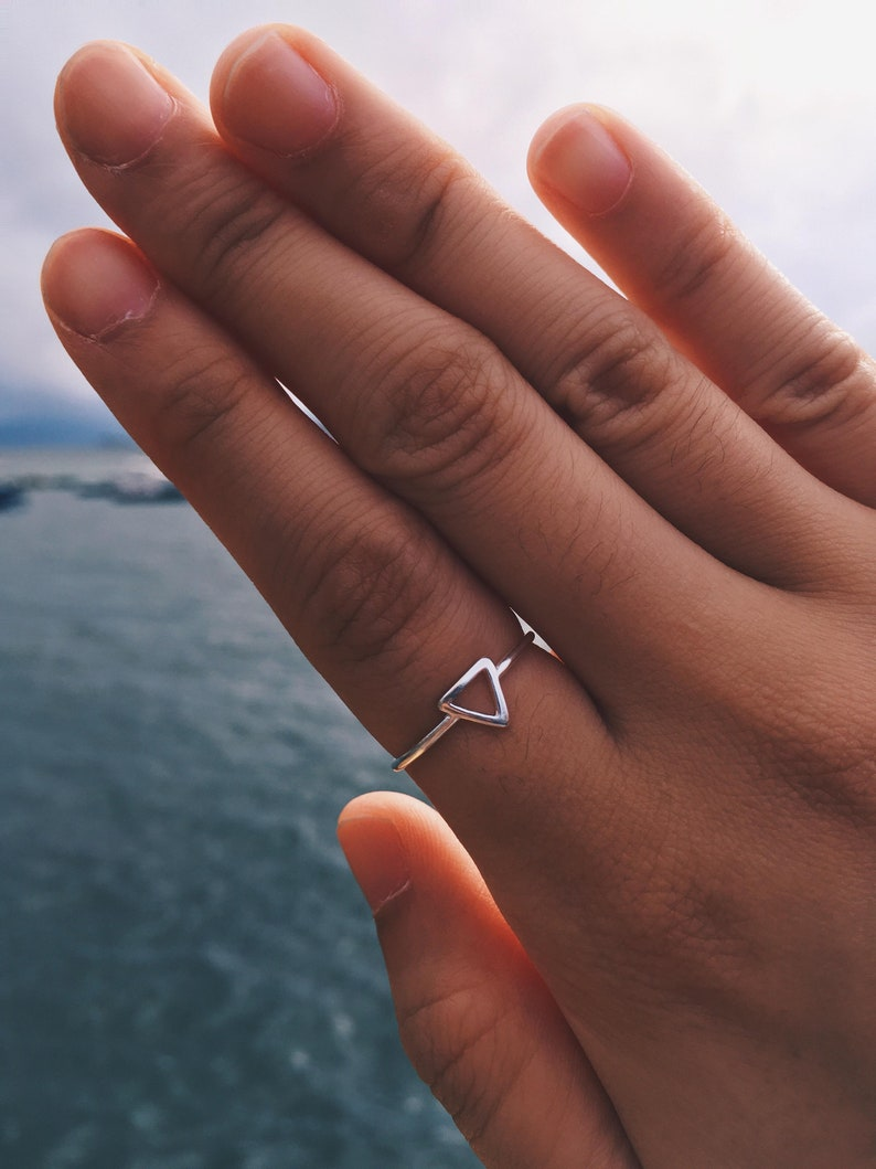 Triangle Ring  Hollow Triangle Ring  Knuckle Ring  Boho Ring  Dainty Ring  Adjustable Ring  Causal Ring  Stackable Ring