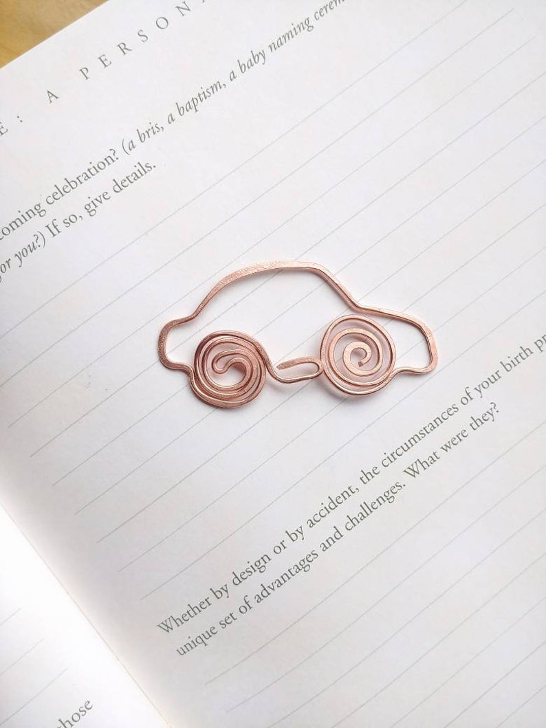 Car Bookmark Car Gifts Car Gifts For Him Metal Bookmark Etsy