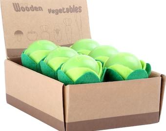 Légume en bois et feutrine pour dinette, marchande - salade - Marque LEGLER - Jouets naturels inspiration Montessori