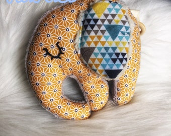 For Chris! DO not order toy/rattle baby elephant - with teething ring, squeaker, swishing and Bell.