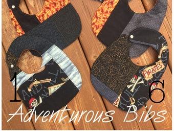 Handmade Reversible Baby Bibs Various Designs