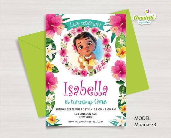 Moana Birthday Invitation Baby Printable