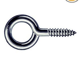 100Pack Mintcraft Lr231 #208 Zinc Sm Steel Eye Screw