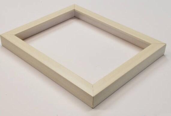 Shadowbox Gallery Wood Frame White Wash 4x6 5x7 6x6 8x8 | Etsy