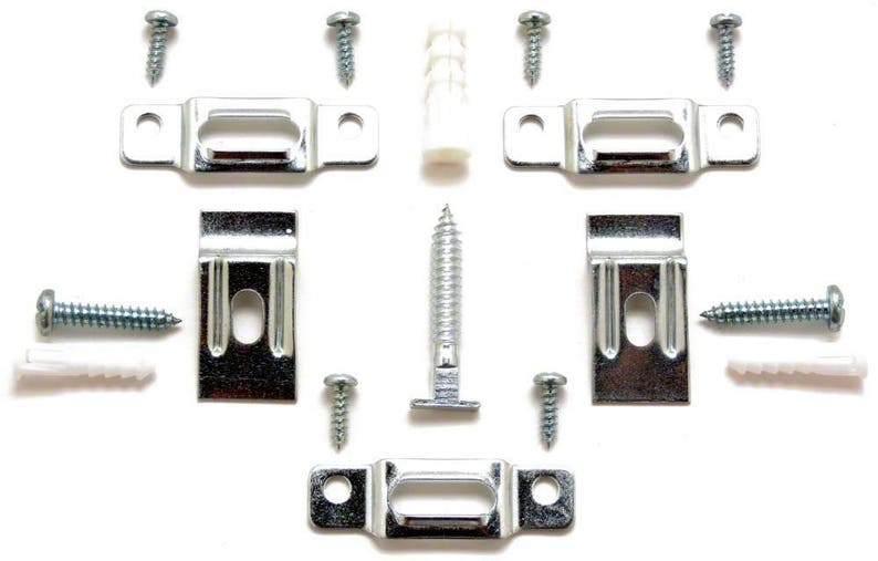25 T-Lock security hangers locking hardware set for wood or aluminum picture frames plus free HARDENED wrench Ar