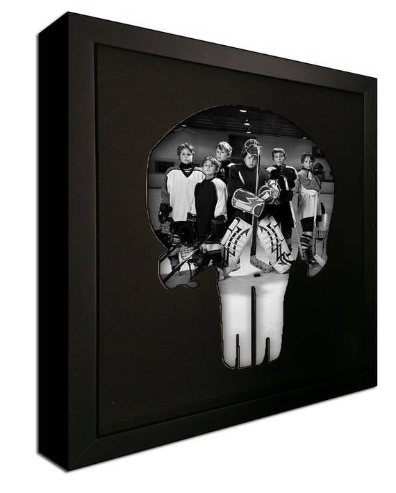 El Punisher calavera Logo foto estera en marco para mostrar