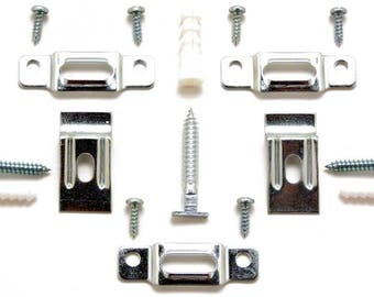 """Picture Frame Security Hardware Complete Sets for Wood or Metal Frames up to 60"""" Wide - Fifty (50) Complete Sets wi"""