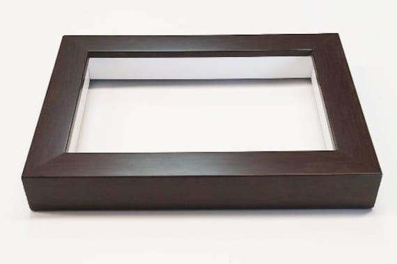 Shadowbox Gallery Wood Frame Brown 4x6 5x7 6x6 8x8 8x10 | Etsy