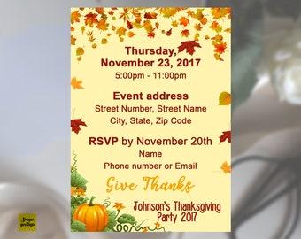 fall invitations etsy