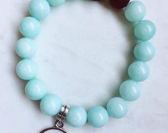 Blue Amazonite & Lava Rock Gemstone Diffuser Bracelet