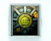 20 Cigarette case Box FALLOUT vault 111 video game door Stainless Steel Storage Pocket Holder cash or credit cards ID business