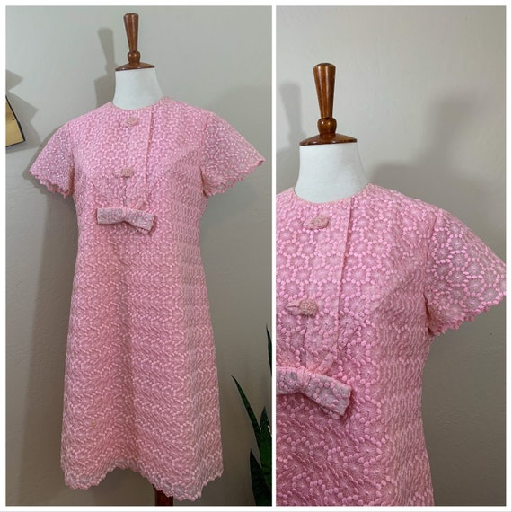 1960s Pink Minidress / Small / Medium