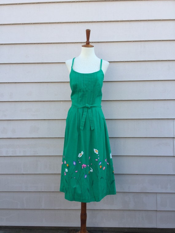 Vintage Malia Dress / Small / Green