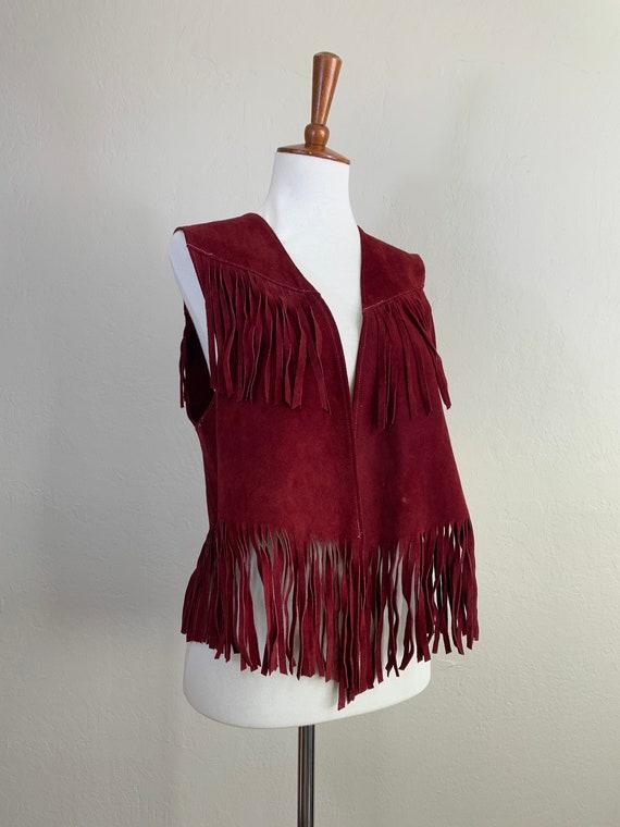 1960s Suede Fringe Vest / Small