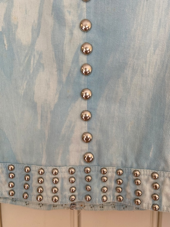 Iconic studded Roncelli jacket in marbled light d… - image 6