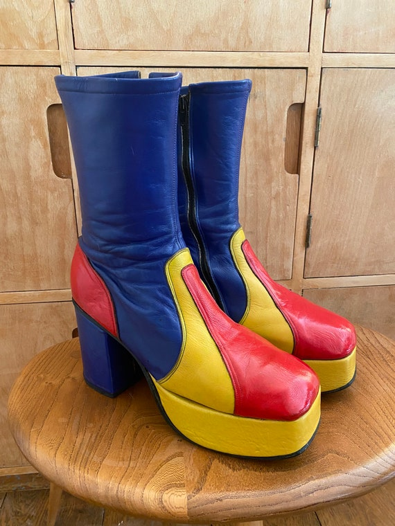 Incredible Glam Rock 1970s Platform Boots