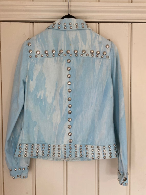 Iconic studded Roncelli jacket in marbled light d… - image 2