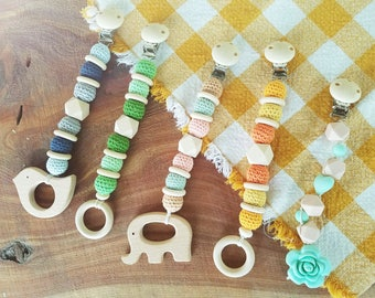 Wooden Crochet Beaded Teethers
