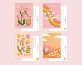 Positivity Postcard Bundle / Mini Print Multipack Set of 4