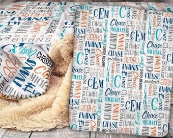 Baby name blanket | Etsy