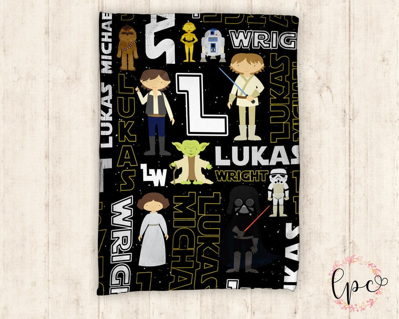 ea600dd674e Personalized Baby Blanket Star Wars Blanket Jedi Baby