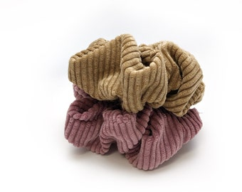 Scrunchies elastic Stretch knit or corduroy fabric chouchou   Scrunchies for girls in adult   Choose the perfect pattern for you